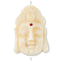 Tibetan Bead Quan Yin 27x18mm Yak Bone (1-Pc)