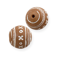 Terra Cotta Bead 14mm Round (5-Pcs)