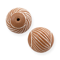 Terra Cotta Round Bead 17mm - Small Hole (5-Pcs)