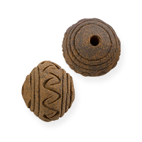 Terra Cotta Bead 16x13mm Saucer (5-Pcs)