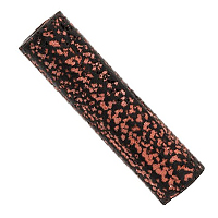 Terra Cotta Bead 9x32mm Tube Black/Red  (5-Pcs)