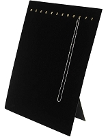 Chain Board 12 Hooks Black Velvet