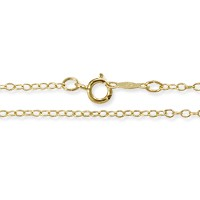 Cable Chain 1.25mm 14k Yellow Gold 18