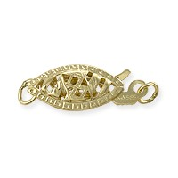 Filigree Clasp 13x5mm 14k Yellow Gold (1-Pc)