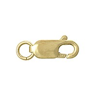 Lobster Claw Clasp 10x4mm 14k Yellow Gold 1 Pc