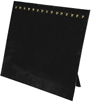 Chain Board 15 Hooks Black Velvet