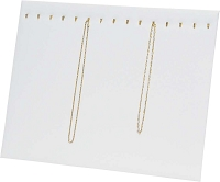 Chain Board 15 Hooks White Leatherette