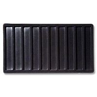 Standard Size 1x10 Black Flocked Tray Insert