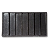 Standard Size 1x7 Black Flocked Tray Insert