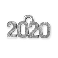 2020 Charm 16x9mm Antique Silver Plated Pewter (1-Pc)