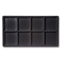 Standard Size 2x4 Black Flocked Tray Insert