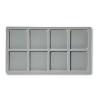 Standard Size 2x4 Grey Flocked Tray Insert
