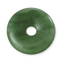 Green Aventurine Natural Stone 30mm Donut Pendant