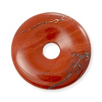 Red Jasper Natural Stone 30mm Donut Pendant