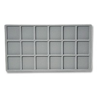 Standard Size 3x6 Grey Flocked Tray Insert