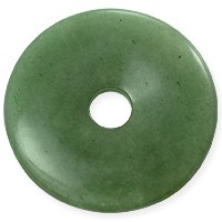 Green Aventurine Natural Stone 40mm Donut Pendant