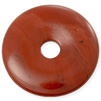 Red Jasper Natural Stone 40mm Donut Pendant