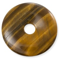 Tiger Eye Natural Stone 40mm Donut Pendant