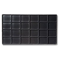 Standard Size 4x6 Black Flocked Tray Insert