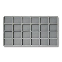 Standard Size 4x6 Grey Flocked Tray Insert
