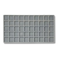 Standard Size 5x10 Grey Flocked Tray Insert