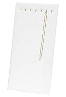 Chain Board 7 Hooks White Leatherette