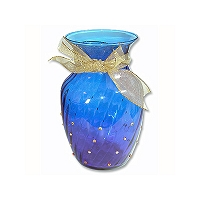 Cobalt and Crystal Vase