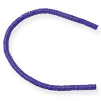 Vinyl Heishi Beads Purple 4mm (32