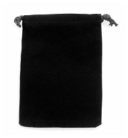 Anti-Tarnish Black Drawstring Velvet Pouch 4x5