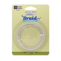 Braid Wire 12 Gauge Tarnish Resistant Silver (5-Ft)