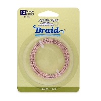 Artistic Wire 12ga Silver Plated Rose Gold Braid (5-Ft)
