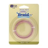 Artistic Wire 14ga Silver Plated Rose Gold Braid (5-Ft)