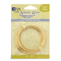 Artistic Wire 14ga Silver Plated Gold Color (10 Feet)