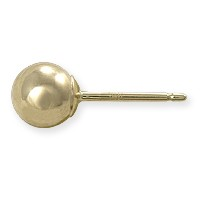 Ball Post Earring 5mm 14k Yellow Gold (1-Pc)