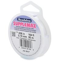 .15mm Clear SuppleMax Bead Cord (50 Meters)