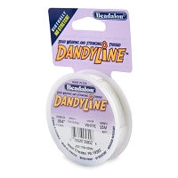 .13mm White DandyLine Bead Cord (25 Meters)