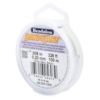 .20mm White DandyLine Bead Cord (100 Meters)