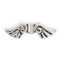 Angel Wing Pewter Bead 26x8mm (2-Pc)