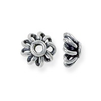 Scalloped Bead Cap 7mm Sterling Silver (1-Pc)