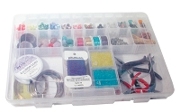 14 Inch 27 Compartment Clear Storage Box