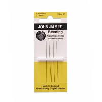 English Beading Needles Fine #13 (4-Pcs)