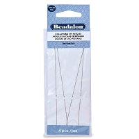 Collapsible Eye Long Beading Needles  Fine (4-Pcs)