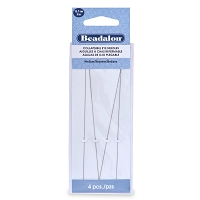 Collapsible Eye Long Beading Needles Medium (4-Pcs)