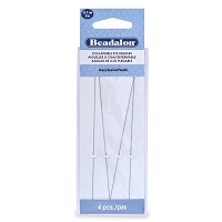 Collapsible Eye Long Beading Needles Heavy (4-Pcs)
