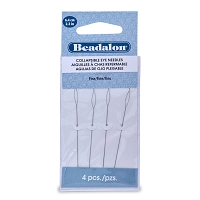 Collapsible Eye Beading Needles Fine (4-Pcs)