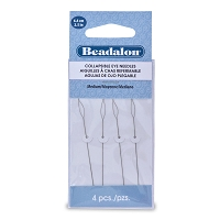 Collapsible Eye Beading Needles Medium (4-Pcs)