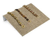 Jewelry Display Bracelet Ramp Burlap 10