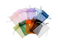 Organza Pouch Small Multi-Color Mix (12-Pcs)
