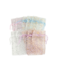 Organza Pouch Small Pattern Mix (12-Pcs)