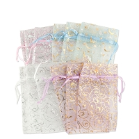 Organza Pouch Medium Pattern Mix (12-Pcs)